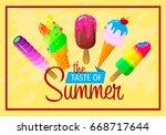 vector illustration of ice cream | Shutterstock .eps vector #668717644