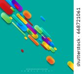 abstract template with clean... | Shutterstock .eps vector #668721061