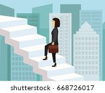 Business Woman Climbing The...