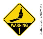warning   wet paint. sign ...   Shutterstock .eps vector #668726155