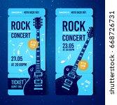 vector rock festival ticket... | Shutterstock .eps vector #668726731
