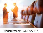 side view of two blurred...   Shutterstock . vector #668727814
