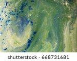 marbled blue  green and golden... | Shutterstock . vector #668731681