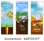 three farming vertical banners... | Shutterstock .eps vector #668735197