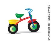 colorful toy tricycle vector... | Shutterstock .eps vector #668739457