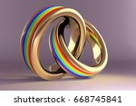 3d Illustration  Wedding Rings...