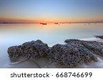 xiamen guanyinshan beach sunrise | Shutterstock . vector #668746699