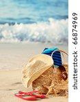 Closeup Of Summer Beach Bag...