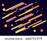 colorful geometric technology... | Shutterstock . vector #668751979