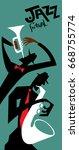 abstract jazz art  vector art  | Shutterstock .eps vector #668755774