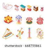 amusement park isometric... | Shutterstock .eps vector #668755861