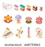 amusement park isometric... | Shutterstock .eps vector #668755861