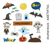 vector set of characters and... | Shutterstock .eps vector #668759761