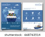 sea shipping poster template... | Shutterstock .eps vector #668763514