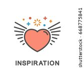icon inspiration. heart with... | Shutterstock .eps vector #668775841