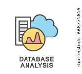 icon of cloud storage analysis. ... | Shutterstock .eps vector #668775859