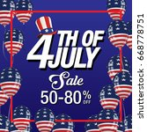 4th of july background   Shutterstock .eps vector #668778751