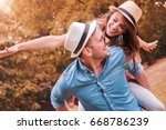 happy couple. loving couple... | Shutterstock . vector #668786239