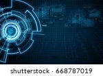 technology background | Shutterstock . vector #668787019