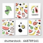 set of templates for summer... | Shutterstock .eps vector #668789161