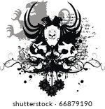 heraldic eagle coat of arms... | Shutterstock .eps vector #66879190
