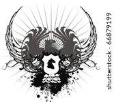 heraldic eagle coat of arms... | Shutterstock .eps vector #66879199