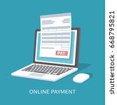online payment service.... | Shutterstock . vector #668795821