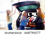 girls going on vacation | Shutterstock . vector #668796577