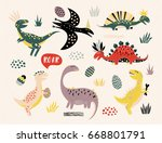 set of different vector... | Shutterstock .eps vector #668801791