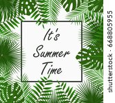 summer time card design with  ... | Shutterstock .eps vector #668805955
