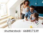 father and mother teach... | Shutterstock . vector #668817139