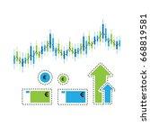 trading illustration on white... | Shutterstock .eps vector #668819581