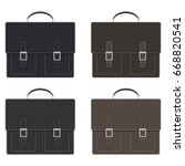 stylish men's leather briefcase ... | Shutterstock .eps vector #668820541