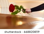 people and mourning concept  ...   Shutterstock . vector #668820859
