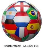 holland football with world... | Shutterstock . vector #668821111