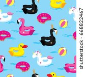 vector pattern with floats in... | Shutterstock .eps vector #668822467