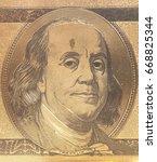 golden portrait of u.s.... | Shutterstock . vector #668825344