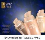 realistic bottles for...   Shutterstock .eps vector #668827957