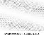 abstract halftone dotted... | Shutterstock .eps vector #668831215