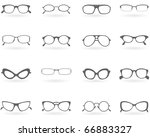 glasses in different styles | Shutterstock .eps vector #66883327