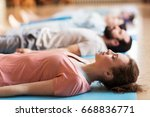 fitness  sport and healthy... | Shutterstock . vector #668836771