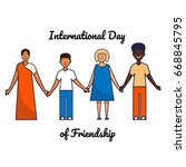 friends of different... | Shutterstock .eps vector #668845795