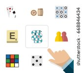 flat icon entertainment set of... | Shutterstock .eps vector #668846434