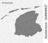 high quality map of friesland ... | Shutterstock .eps vector #668848837