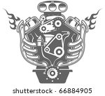 racing engine | Shutterstock .eps vector #66884905
