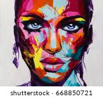 a no one in particular portrait ... | Shutterstock . vector #668850721