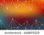 triangle poster. abstract... | Shutterstock . vector #668855329