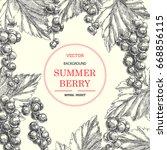 vintage background with summer... | Shutterstock .eps vector #668856115