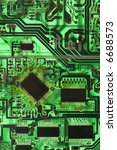green circuit board detail. | Shutterstock . vector #6688573