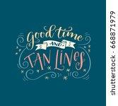 handwritten lettering phrase ... | Shutterstock .eps vector #668871979